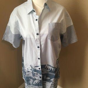 🤑$8 FINAL PRICE🤑Micros men's Button Down Shirt M